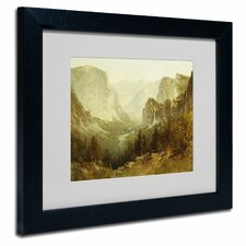 'Hunting In Yosemite 1890' by Thomas Hill Matted Framed Painting Print