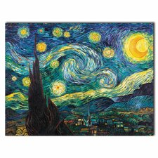 """Starry Night"" by Vincent Van Gogh Painting Print on Rolled Wrapped Canvas"