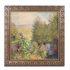 'Garden at Montgeron' by Claude Monet Framed Painting Print