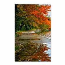 """Tidal Basin Autumn 1"" by CATeyes Photographic Print Gallery Wrapped on Canvas"