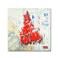 """""""Shoulder Dress Red n White"""" by Roderick Stevens Painting Print on Wrapped Canvas"""