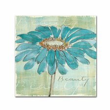 """""""Spa Daisies I"""" by Chris Paschke Painting Print on Wrapped Canvas"""