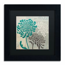 'Chrysanthemums I' by Wellington Studio Framed Graphic Art