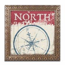 'Nautical I' by Wellington Studio Ornate Framed Graphic Art