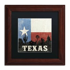 'Texas' by Moira Chocolate Framed Graphic Art