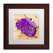 'Snap Purse Purple' by Roderick Stevens Framed Graphic Art