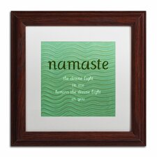 'Namaste with Blue Waves' by Michelle Calkins Framed Painting Print