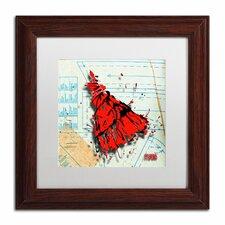 'Shoulder Dress Red and Black' by Roderick Stevens Framed Graphic Art