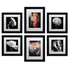 Floral 6 Piece Framed Photographic Print Art Set