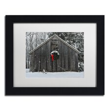 """Christmas Barn in the Snow"" by Kurt Shaffer Framed Photographic Print"