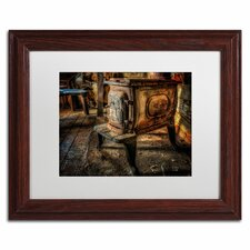 """""""Liberty Wood Stove"""" by Lois Bryan Framed Photographic Print"""