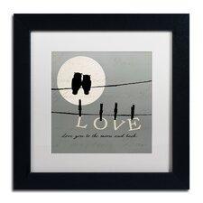 """Moon Lovers I"" by Pela Studio Framed Textual Art"
