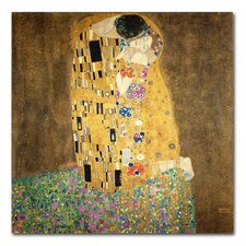 """""""The Kiss, 19078"""" by Gustav Klimt Painting Print on Canvas"""