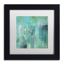 """""""Aqua Circumstance II"""" by Color Bakery Matted Framed Painting Print"""