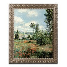 """""""Path through the Poppies"""" by Claude Monet Framed Painting Print"""