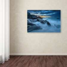 """Blue Hour for a Blue Ocean"" by Mathieu Rivrin Photographic Print on Wrapped Canvas"