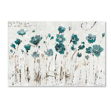"""Abstract Balance VI Blue"" by Lisa Audit Painting Print on Wrapped Canvas"