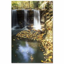'Autumn Falls' by Kurt Shaffer Photographic Print on Canvas