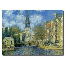 'The Zuiderkerk at Amsterdam' by Claude Monet Painting Print on Canvas