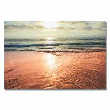 'Sunset Beach Reflections' by Ariane Moshayedi Photographic Print on Canvas