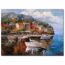 'At Sea' by Joval Painting Print on Wrapped Canvas