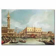 'The Molo, Venice' by Canaletto Painting Print on Canvas