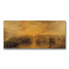 """""""The Lake, Petworth, Sunset"""" by Joseph Turner Painting Print on Canvas"""