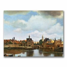 'View of Delft, 1660-61' by Jan Vermeer Painting Print on Canvas
