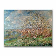 """Spring, 1880"" by Claude Monet Painting Print on Canvas"