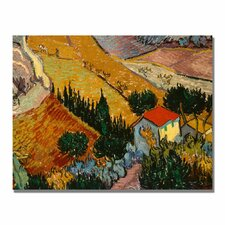 """Landscape with House"" by Vincent Van Gogh Painting Print on Wrapped Canvas"