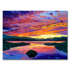 'Paint Brush Sky' by David Lloyd Glover Painting Print on Wrapped Canvas