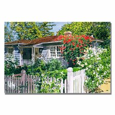 'Rose Cottage' by David Lloyd Glover Painting Print on Canvas
