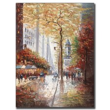 'French Street Scene II' by Joval Painting Print on Canvas