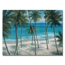 """""""Barbados Palms"""" by Rio Painting Print on Canvas"""