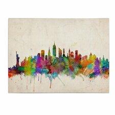 """New York Skyline"" by Michael Tompsett Painting Print on Canvas"