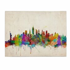 'New York Skyline' by Michael Tompsett Painting Print on Canvas