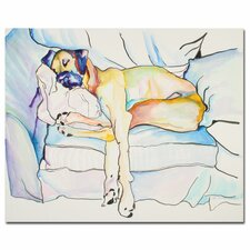 'Sleeping Beauty' by Pat Saunders in White Painting Print on Canvas