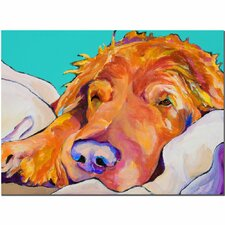 'Snoozer King' by Pat Saunders-White Painting Print on Canvas