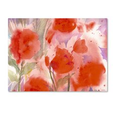 'Crimson Field' by Sheila Golden Painting Print on Canvas