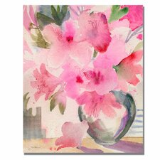 'Pink Azaleas' by Sheila Golden Painting Print on Canvas