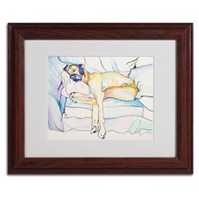 """Sleeping Beauty"" by Pat Saunders-White Matted Framed Painting Print"