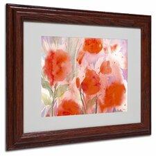 """Crimson Field"" by Sheila Golden Framed Painting Print"