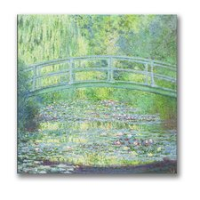 'Waterlily Pond-The Bridge II' by Claude Monet Painting Print on Canvas