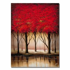 'Serenade in Red' by Rio Painting Print on Canvas