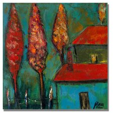 """""""Boyer Crimson Night"""" by Boyer Painting Print on Wrapped Canvas"""