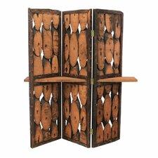 "67"" x 54"" Wooden 3 Panel Room Divider"