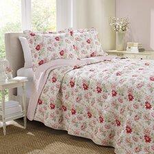 Peony Garden Rose Quilt Set