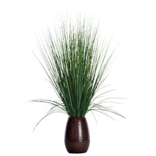 Grass with Twigs in Tapered Ceramic Pot