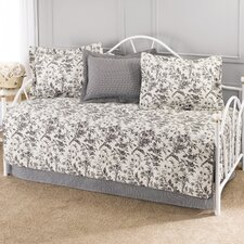 Amberley 5 Piece Daybed Set in Black & White