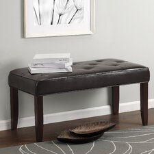Camdyn Tufted Leather Entryway Bench